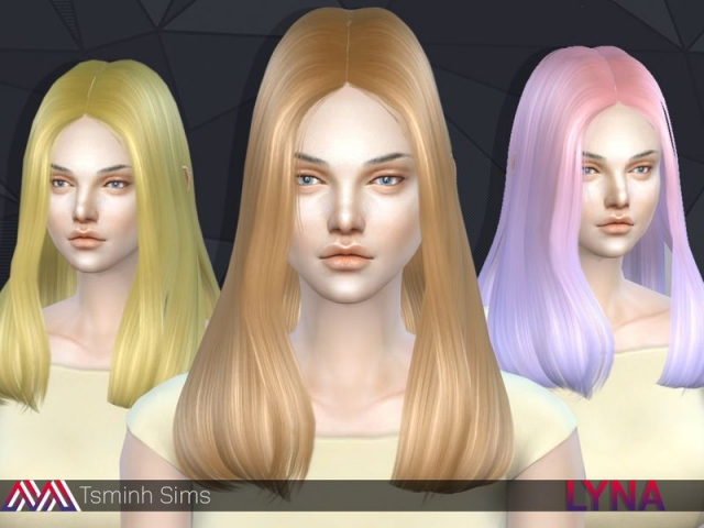 Lyna_Hairstyle 11 by TsminhSims