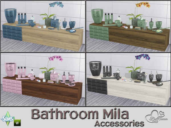 Mila Bathrom Accessories by BuffSumm