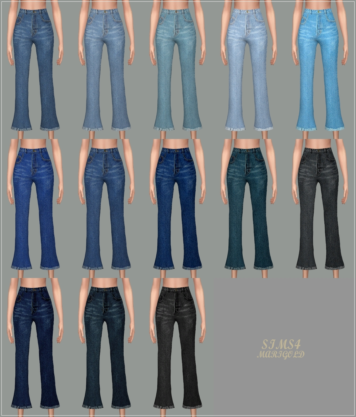Cropped Flare Jeans by marigold