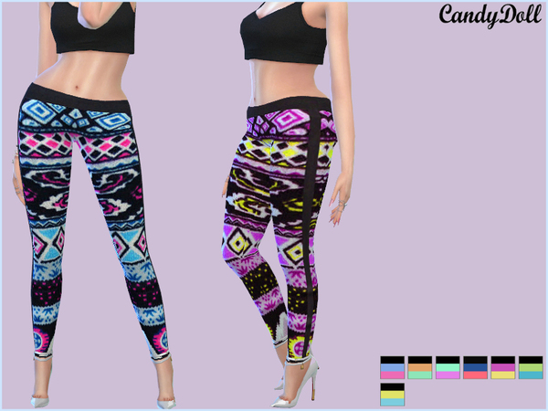 CandyDoll CandyPrint Leggings by DivaDelic06