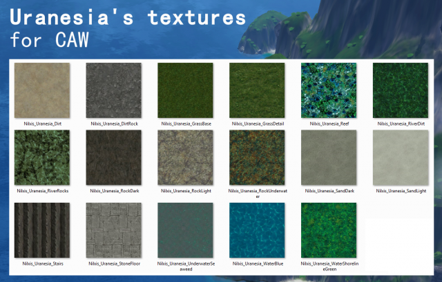 Uranesias textures for CAW by Nilxis