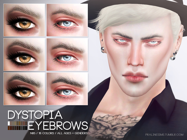 Dystopia Eyebrows N95 by Pralinesims