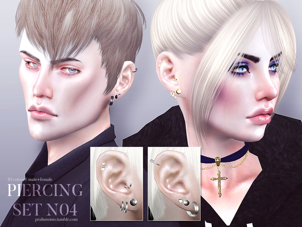 Piercing Set N04 by Pralinesims