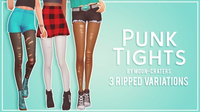 Ripped Punk Tights by Moon-Craters