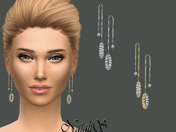 NataliS_Crystal Pave Drop Earrings