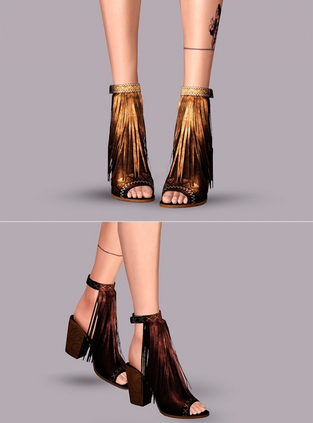 Shoes with fringe by Tractusopticus
