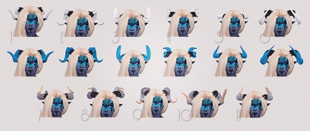 Qunari Horns collection part 2 by Valhallansim