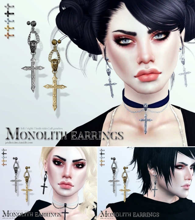 Monolith Earrings by Pralinesims