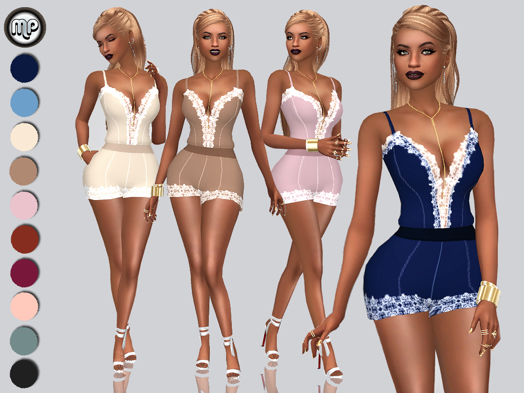 MP Lace Detailed Romper by MartyP