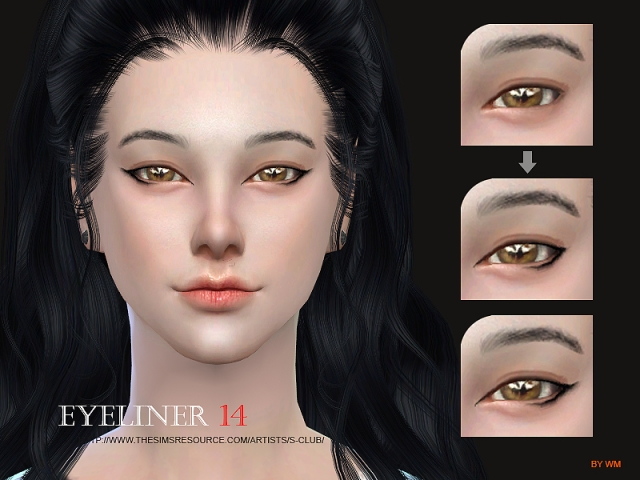 WM ts4 eyeliner 14 by S-Club