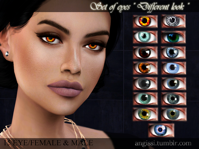 "Set of eyes ""Different look"" by ANGISSI"