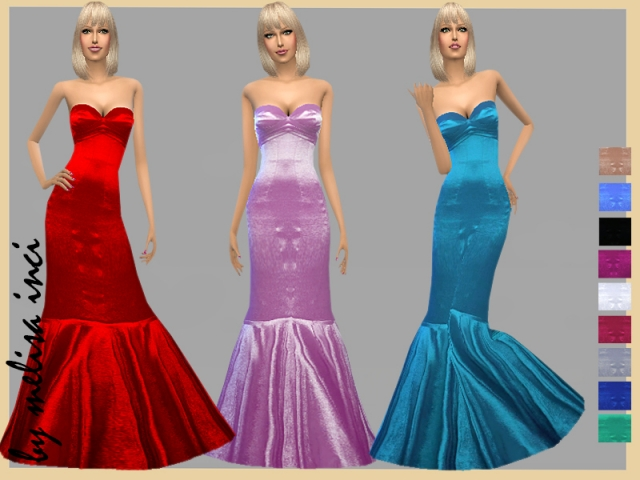 Mermaid Satin Dress by melisa_inci