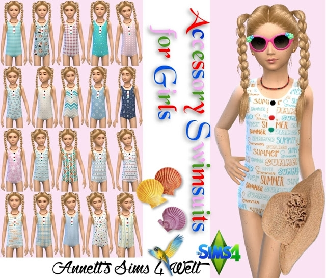 Accessory Swimsuits for Girls by Annett85