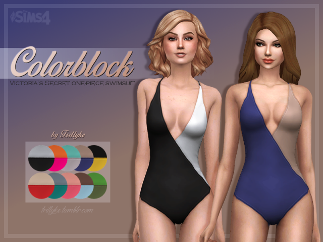 Colorblock One-Piece Swimsuit by Victorias Secret by Trillyke