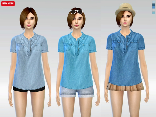 Billie Denim Blouse by McLayneSims