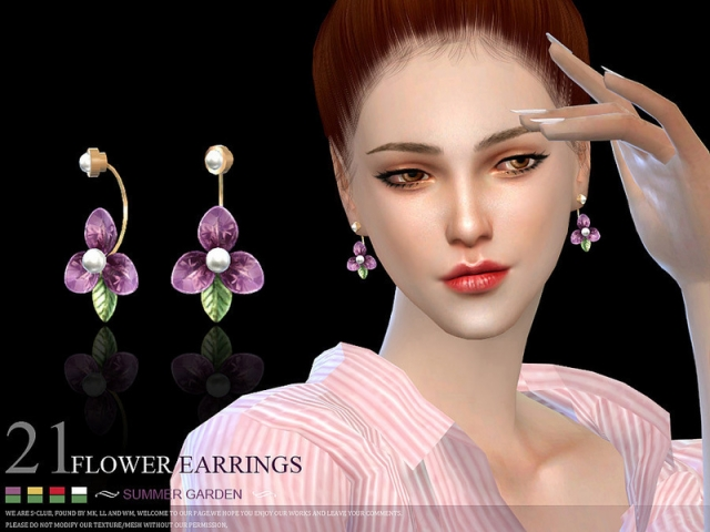LL ts4 earring 21(f) by S-Club