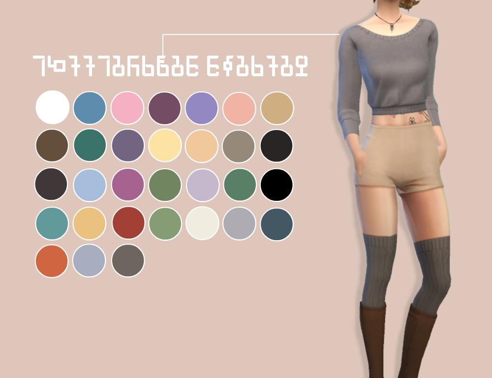 Cropped Sweater Recolors by FeliniSims