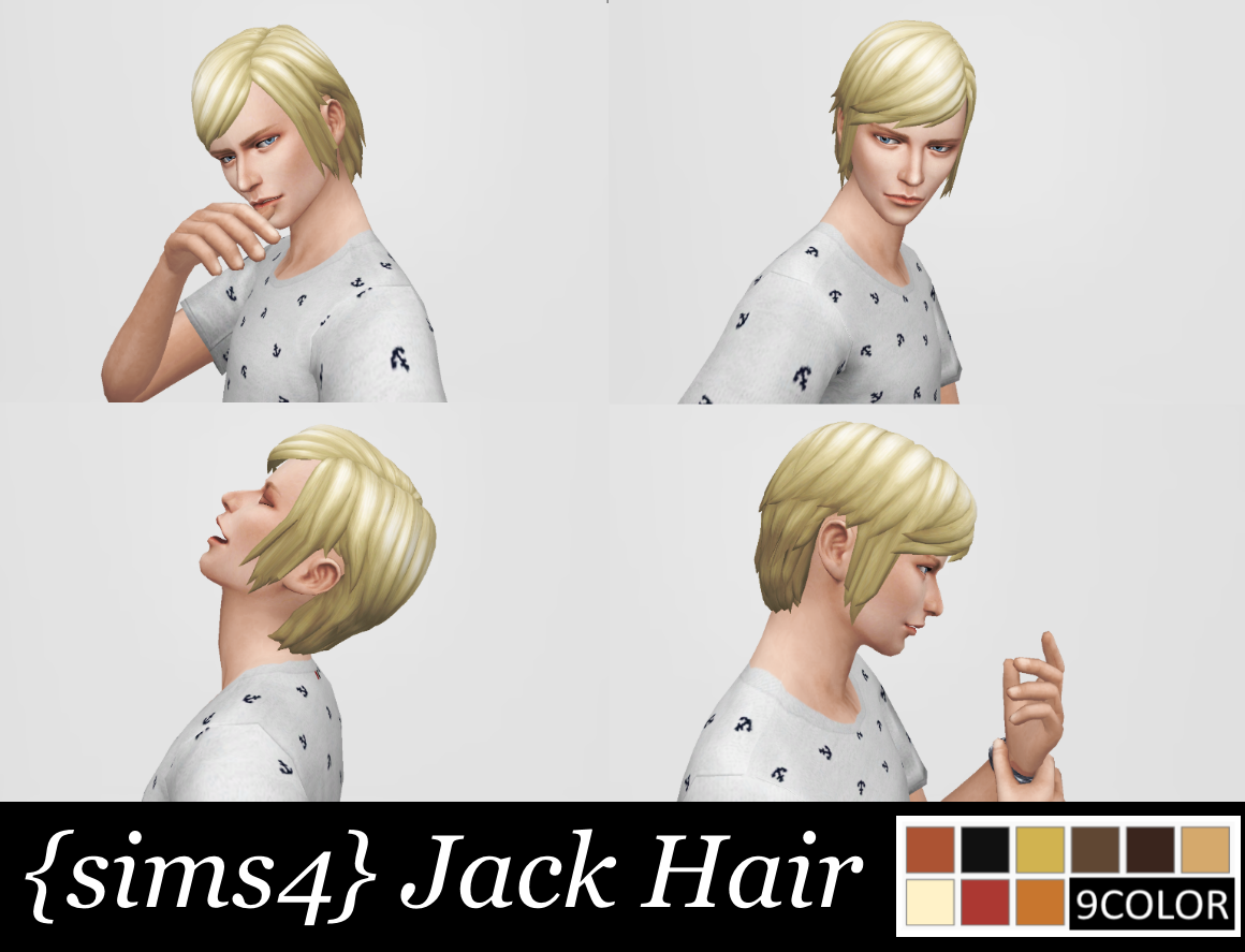 Jack Hair by SuiminntyuuSims