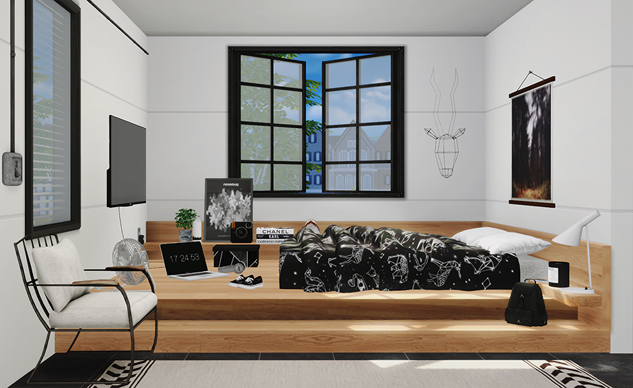 Pseudo Bedroom Set by DreamTeamSims