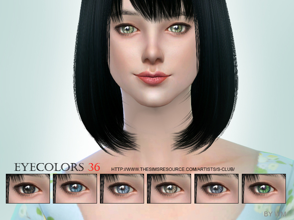 S-Club WM thesims4 Eyecolor 36
