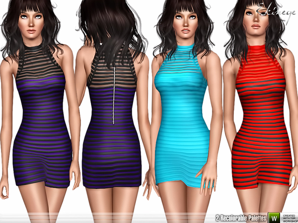 Mesh Panel Bodycon Dress by ekinege