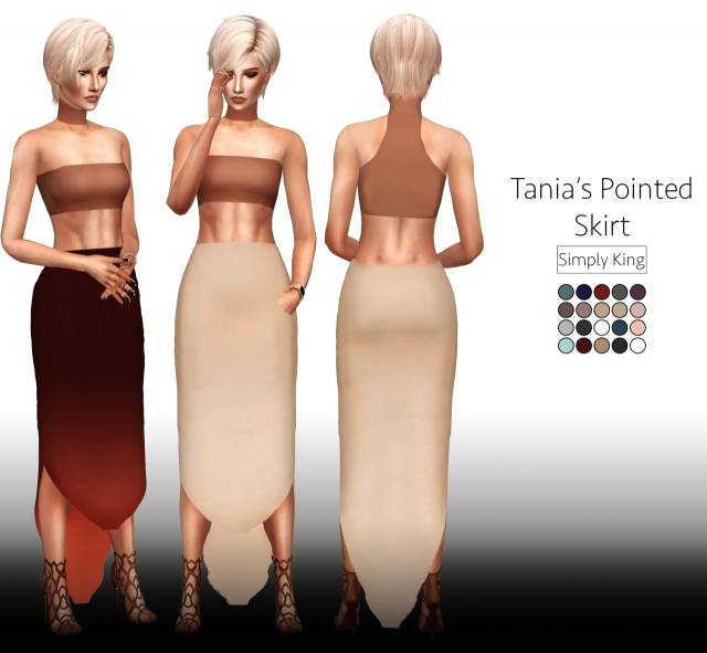 Tanias Pointed Skirt by Simply King