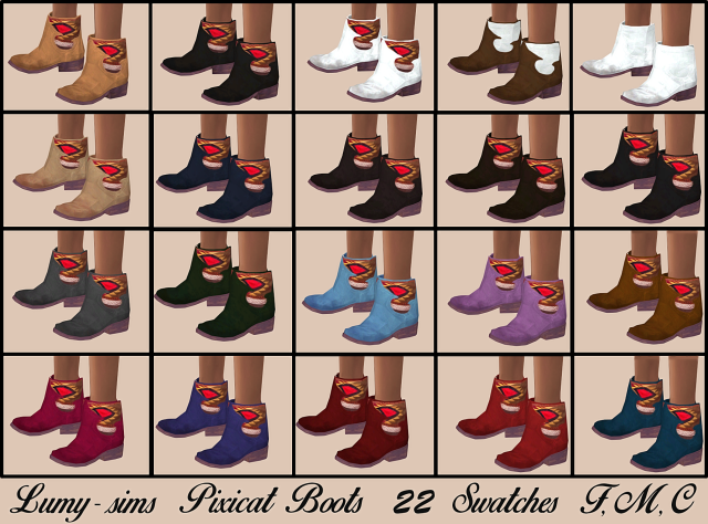 Pixicat Boots All by Lumy-sims