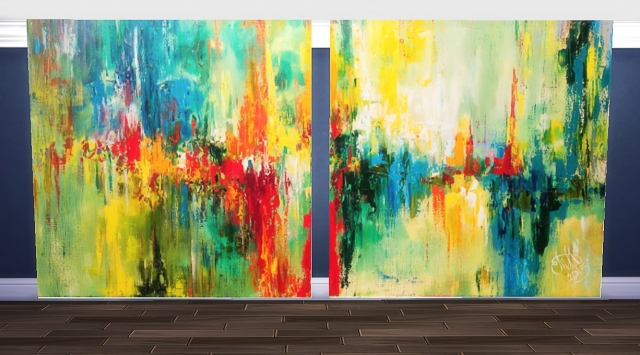 """Mural """"Abstract"""" Part 1 BY Nirvana"""
