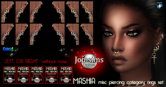 Mashia misc piercings set by jomsims