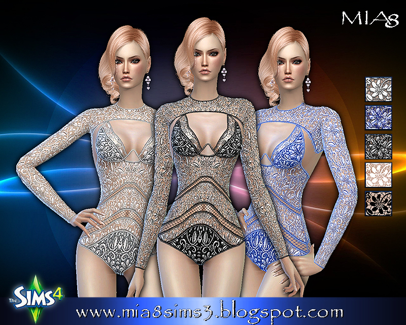 Womens lace bodysuit (5 colors) by Mia8