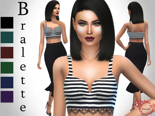 Striped Bralette - Top by taraab