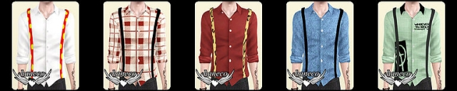 am top with suspender by Haneco