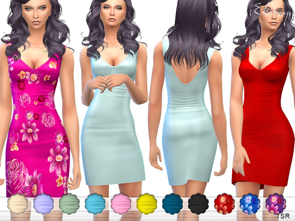 Plunge Neck Bodycon Mini Dress by ekinege