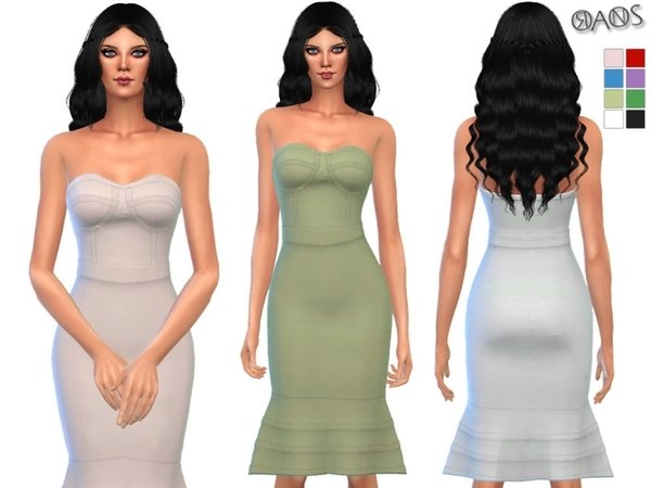 Bandage Flounce Bodycon Dress by OranosTR