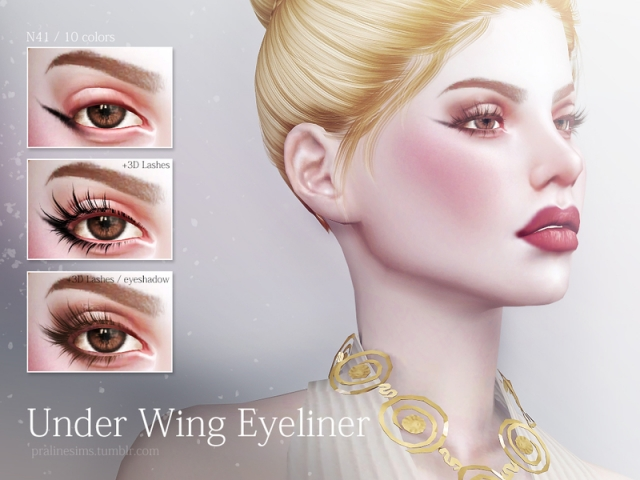 Under Wing Eyeliner N41 by Pralinesims