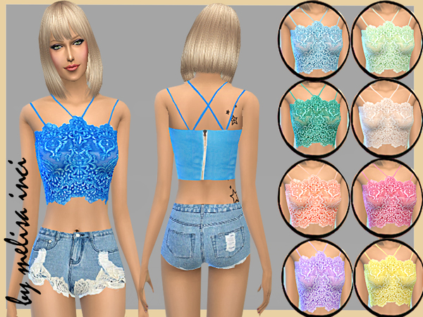 Lace Cropped Bralet by melisa inci