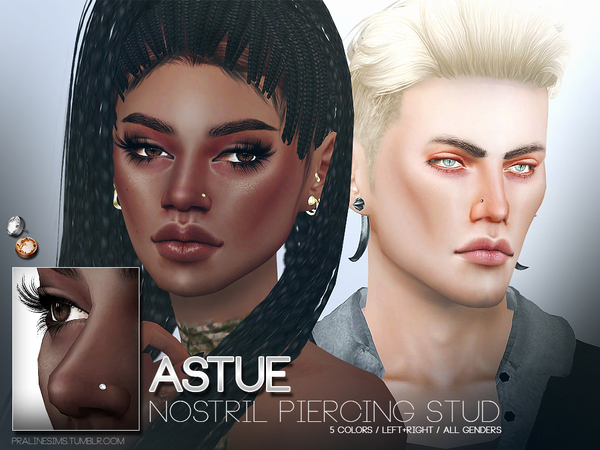 Astue Nostril Piercing Studs by Pralinesims