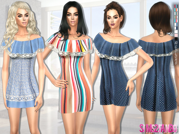 189 - Summer dress by sims2fanbg