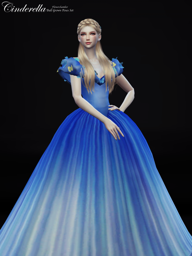 Cinderella (Ball Grown) Poses Set by Flower Chamber