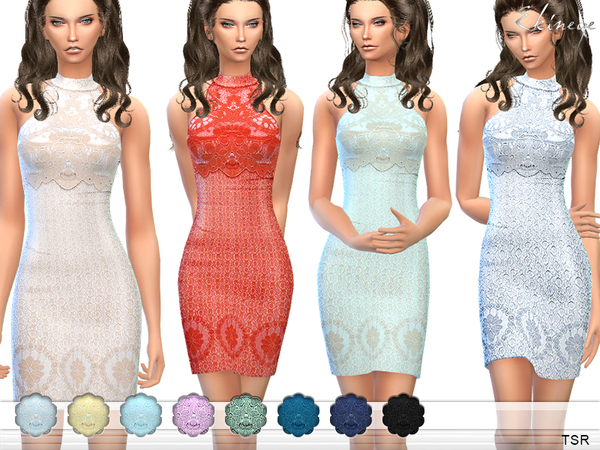 Lace Overlay Mini Dress by ekinege