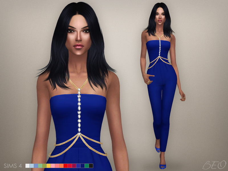 Crista Body Chain and Jumpsuit by BEO