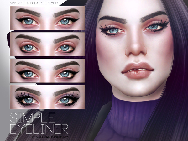 Simple Eyeliner N42 by Pralinesims