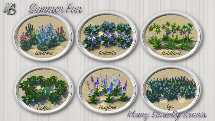 Summer Fun Flowers Set by Souris