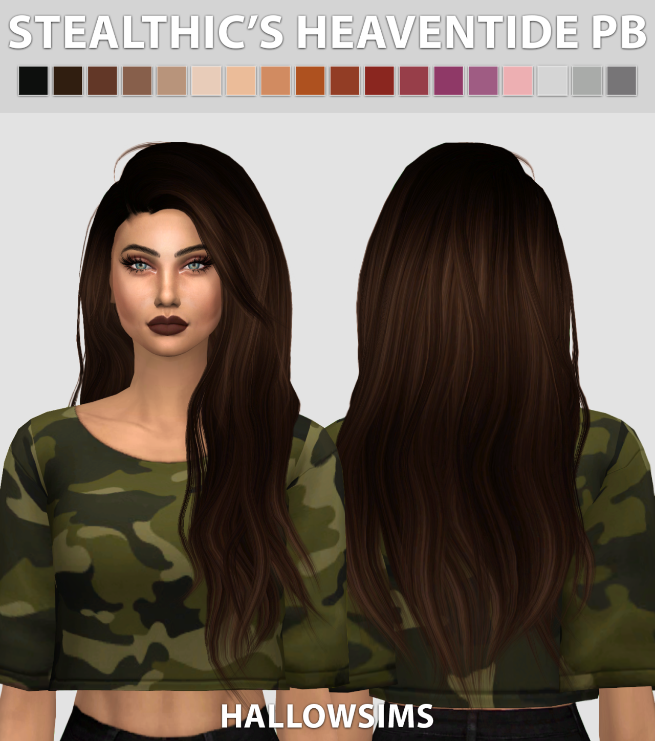 Heaventide Hair Pushed Back Edit by HallowSims
