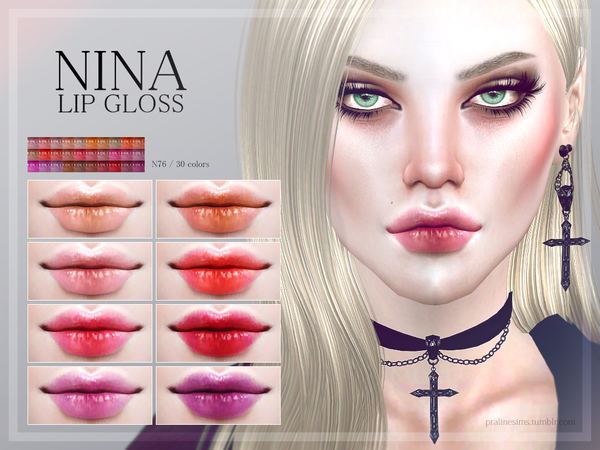 Nina Lip Gloss N76 by Pralinesims