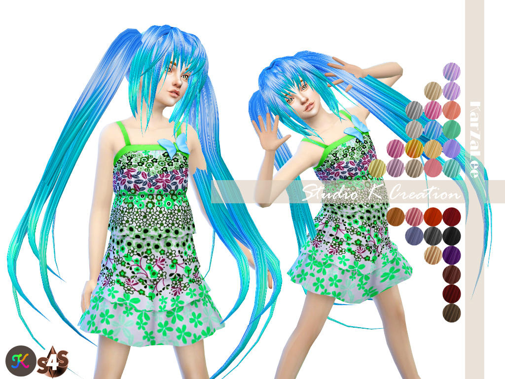 Animate hair 58 - SARINA - kids by Karzalee