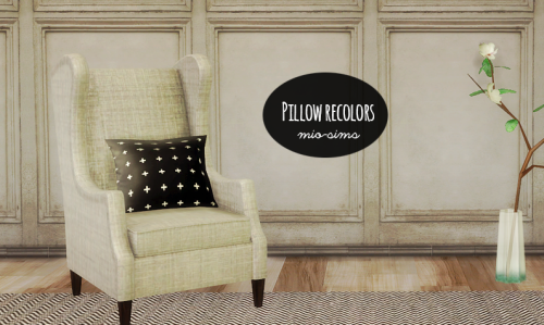 Crissi hideout pillow recolors by Mio-Sims