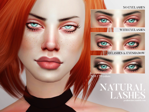 Natural Lashes N35 by Pralinesims