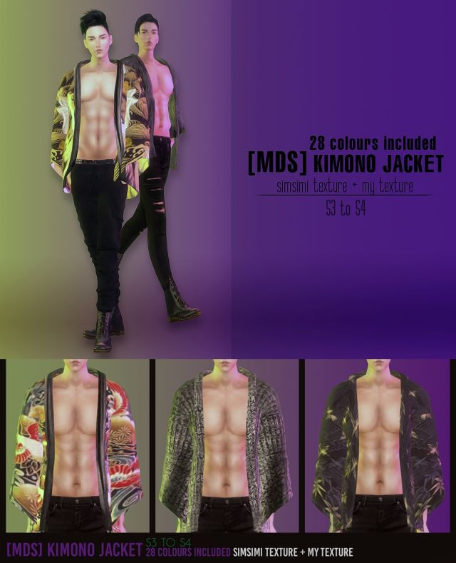 TS3 Kimono Jacket for Males in 28 Colors by MrDesignerShop