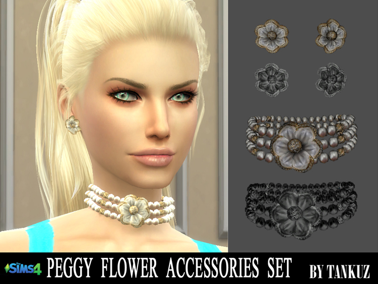 Peggy Flower Accessories Set by Tankuz